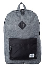 Herschel Heritage Rucksack Raven Crosshatch Black Black Pebbled Leather Mottled Grey