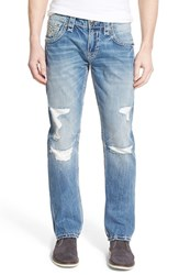 Men's Rock Revival 'Dov J202' Straight Fit Destroyed Jeans