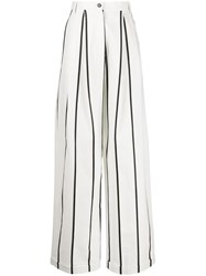 Alysi Striped Palazzo Trousers 60