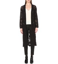 The Kooples Longline Knitted Cardigan Black