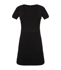 Maje Ropy Cable Knit Dress Female Black