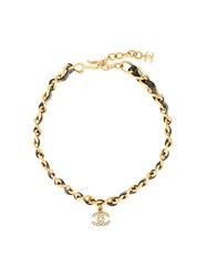 Chanel Vintage Logo Chocker Necklace Gold