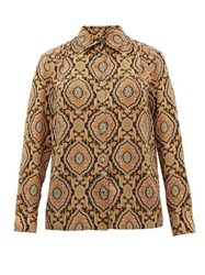 A.P.C. Sutton Paisley Print Silk Shirt Multi