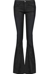 Current Elliott The Low Bell Mid Rise Flared Jeans Black