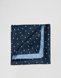 Jack And Jones Silk Pocket Square Navy