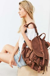 Urban Outfitters Oversized Army Backpack Brown