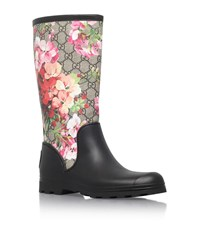 Gucci Prato Gg Wellington Boots Female Black