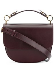 Sophie Hulme Bow Satchel Bag Calf Leather Brown