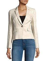 Hobbs Faye Button Front Jacket Tan Ivory
