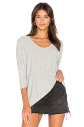 Bobi Faded Dolman Sleeve Top Gray