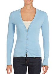 Michael Kors V Neck Long Sleeve Cardigan Sky Blue
