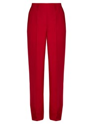 Christophe Lemaire Wide Leg Twill Trousers Dark Pink