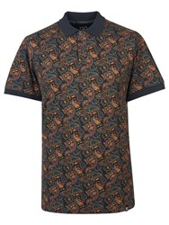 Pretty Green Men's Gretton Paisley Polo Multi Coloured Multi Coloured