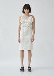 Eckhaus Latta Toggle Dress Cream