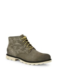 Sorel Madson Leather Camouflage Chukka Boots Green