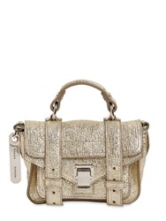 Proenza Schouler Ps1 Micro Crinkled Metallic Leather Bag Light Gold