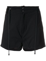 Di Liborio Drawstring Detail Shorts Black