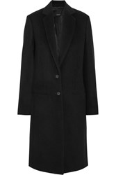 Joseph Man Wool And Cashmere Blend Coat Black