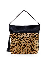Big Buddha Jasmine Faux Leather And Calf Hair Shoulder Bag Leopard