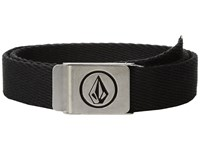 Volcom Circle Web Big Kids Stoney Black Men's Belts