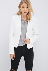 Forever 21 Quilted Open Front Blazer
