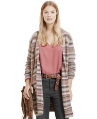 Violeta By Mango Plus Size Striped Cardigan Pastel