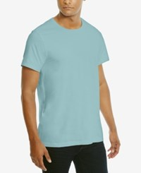 Kenneth Cole Reaction Men's Solid Cotton T Shirt Glacier