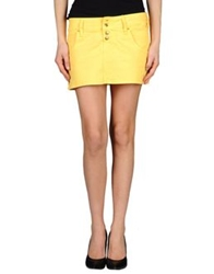 Cycle Denim Skirts Yellow
