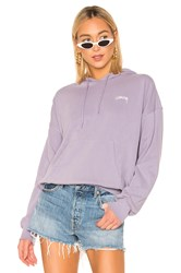 Stussy Violet French Terry Hoodie Lavender