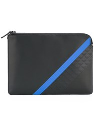 Emporio Armani Contrast Stripe Clutch Bag Black