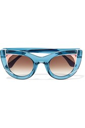 Thierry Lasry Wavvvy Cat Eye Acetate Sunglasses Blue