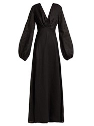 Kalita Utopia Linen Maxi Dress Black