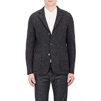 Boucle Three Button Sportcoat Charcoal