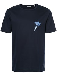 Gieves And Hawkes Partridge Print T Shirt Blue