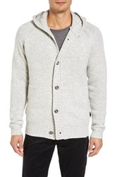 Victorinox Swiss Armyr Men's Army Engine Hooded Button Cardigan Pearl Grey Heather