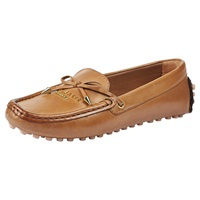 Ted Baker Parnell Leather Flat Heeled Loafers Tan