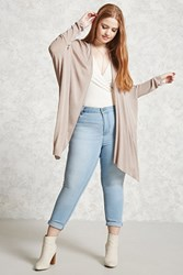 Forever 21 Plus Size Dolman Cardigan Taupe