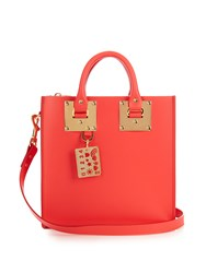 Sophie Hulme Albion Square Leather Tote Red