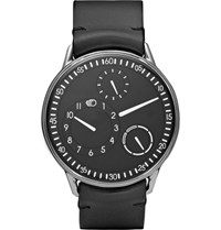 Ressence Type 1 B Titanium And Leather Watch Black