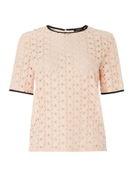 Therapy Lace Shell Top Blush