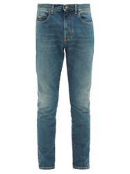Saint Laurent Medium Wash Skinny Leg Jeans Blue