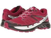 Salomon Wings Pro 2 Sangria Black White Women's Shoes Red
