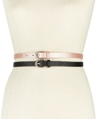Inc International Concepts I.N.C. 2 For 1 Textured Skinny Belts Created For Macy's Blush