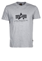 Alpha Industries Basic Print Tshirt Grey Heather