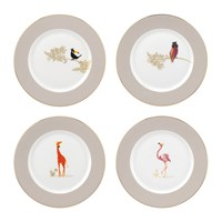 Sara Miller Piccadilly Collection Cake Plates Set Of 4
