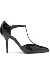 Dolce And Gabbana Patent Leather Pumps Black