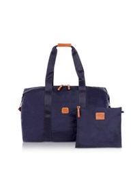 Bric's X Bag Medium Foldable Last Minute Holdall In A Pouch Blue