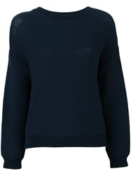 Vince Crew Neck Jumper Blue