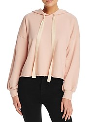 Michelle By Comune Penney Cropped Hooded Sweatshirt Retro Rose