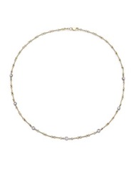 Roberto Coin Diamond And 18K Yellow Gold Station Necklace Yellow White Gold
